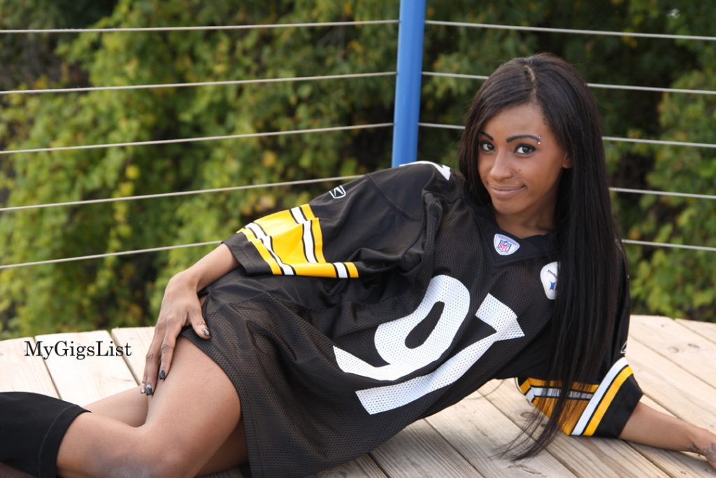Pittsburgh Steelers Football Jersey Modeling Gig